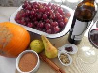 mermelada vino tinto y uvas 3
